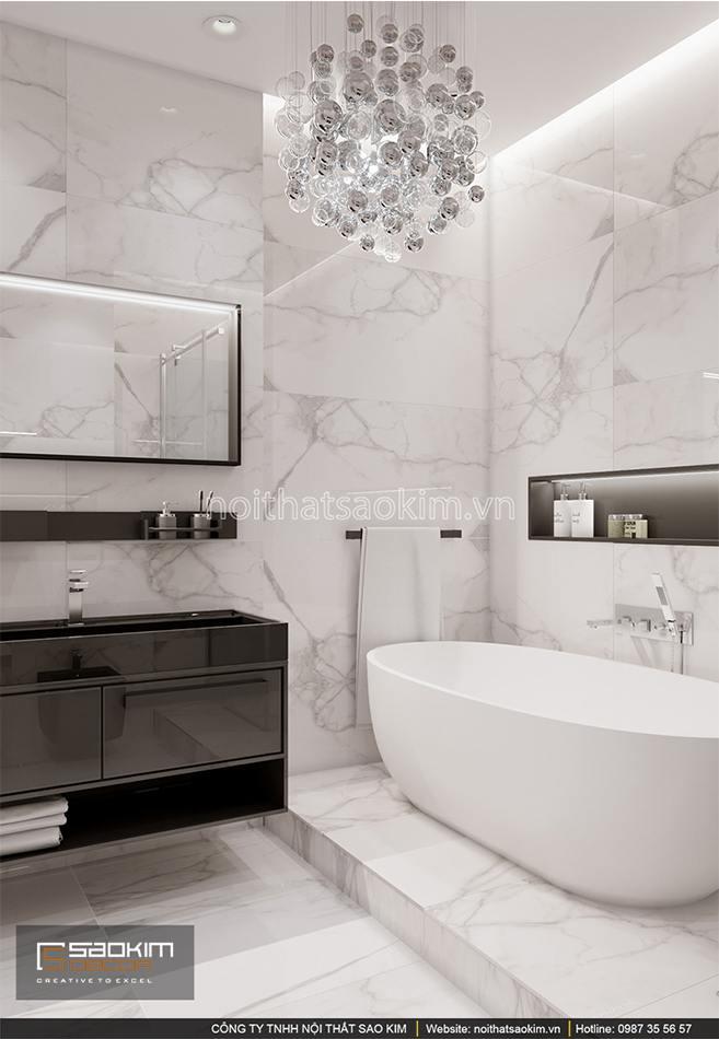 Thiết kế phòng tắm chung cư sang trọng, hiện đại