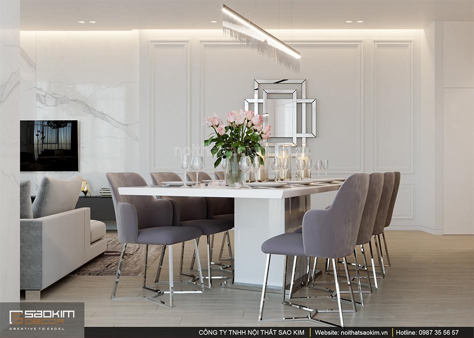 Thiết kế phòng bếp chung cư 56m2 Sun Grand City