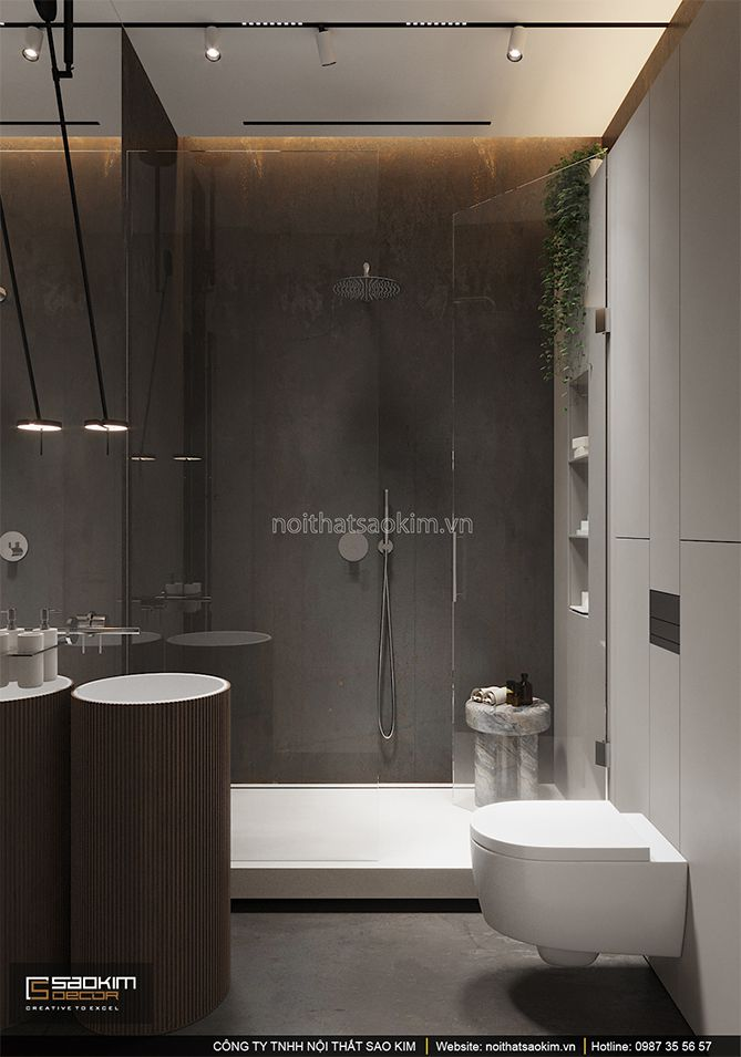 Thiết kế nội thất phòng tắm chung cư phong cách Đài Loan (Taiwan) Indochina Plaza