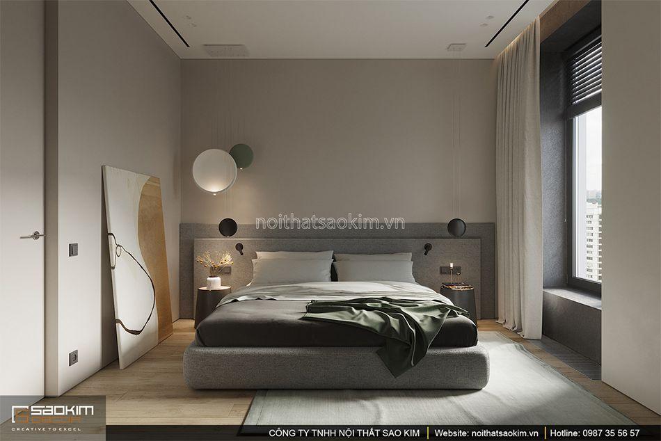 Thiết kế phòng ngủ chung cư - phòng master theo phong cách Đài Loan (Taiwan) Indochina Plaza