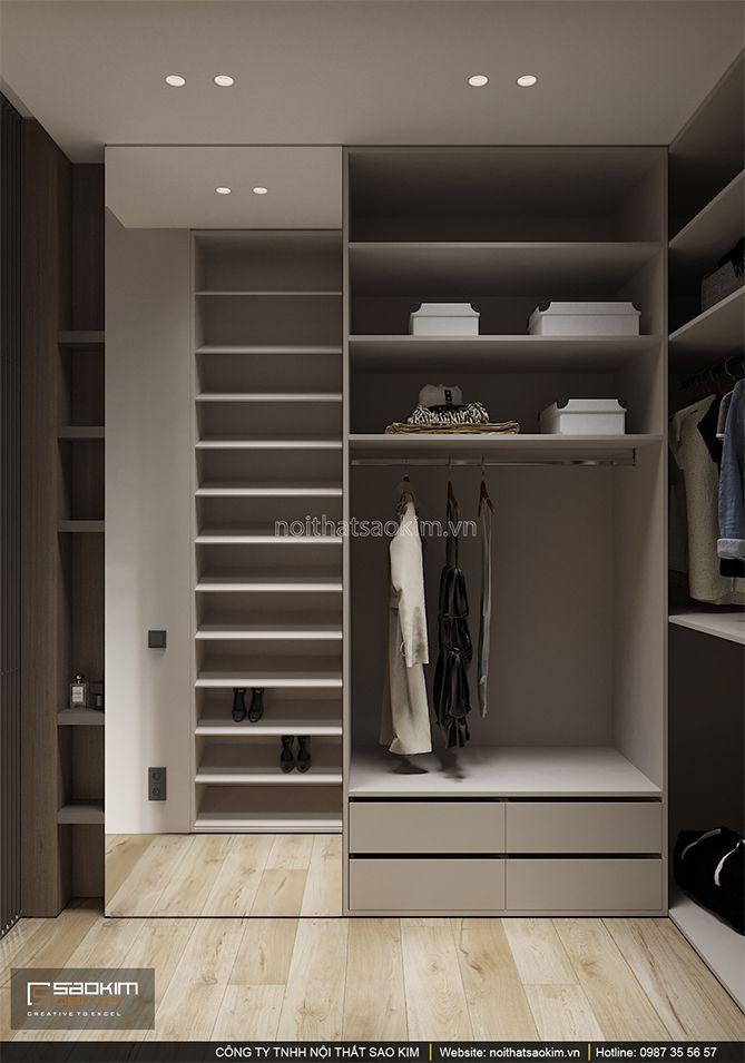 Thiết kế phòng ngủ chung cư có thêm phòng thay đồ nhỏ
