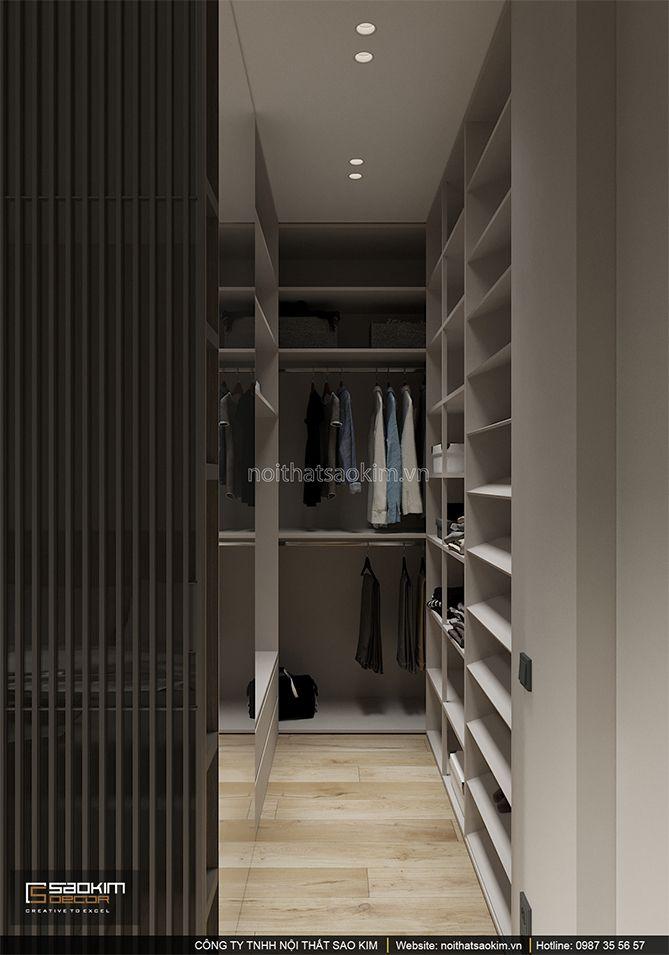 Thiết kế phòng thay đồ nhỏ