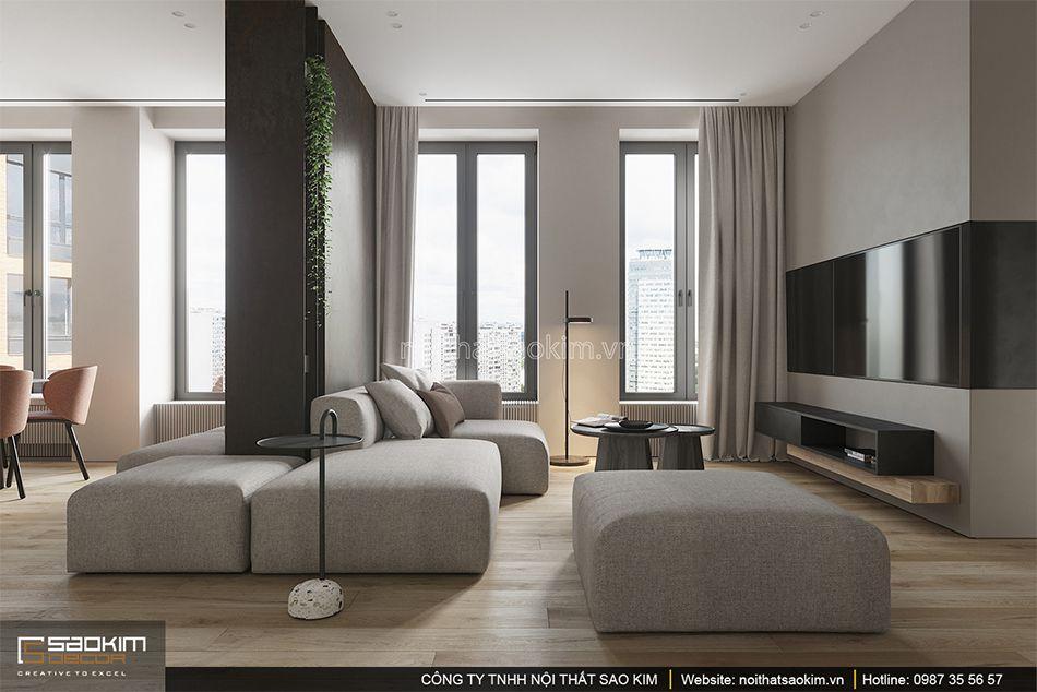 Thiết kế phòng khách chung cư phong cách Đài Loan Indochina Plaza