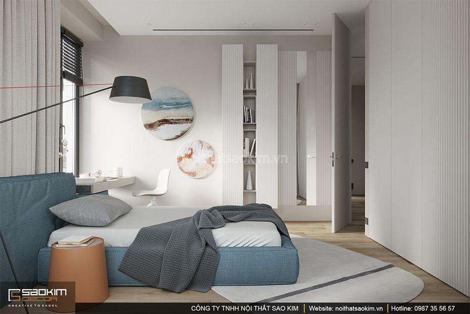 Thiết kế phòng ngủ chung cư - phòng ngủ bé trai theo phong cách Đài Loan (Taiwan) căn hộ Indochina Plaza