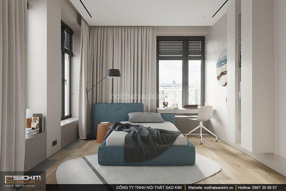 Thiết kế phòng ngủ chung cư - phòng ngủ bé trai