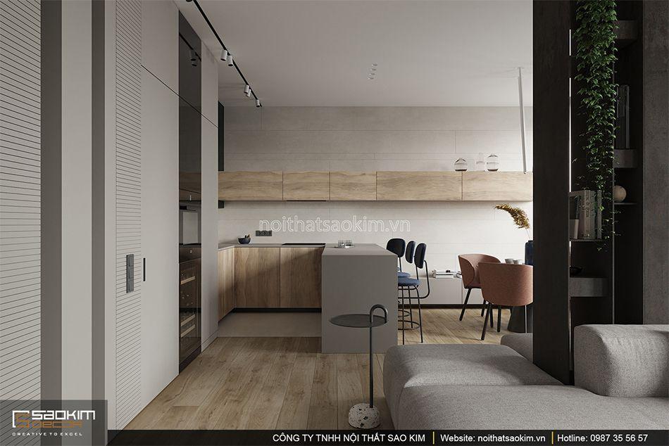 Thiết kế phòng bếp chung cư phong cách Đài Loan Indochina Plaza