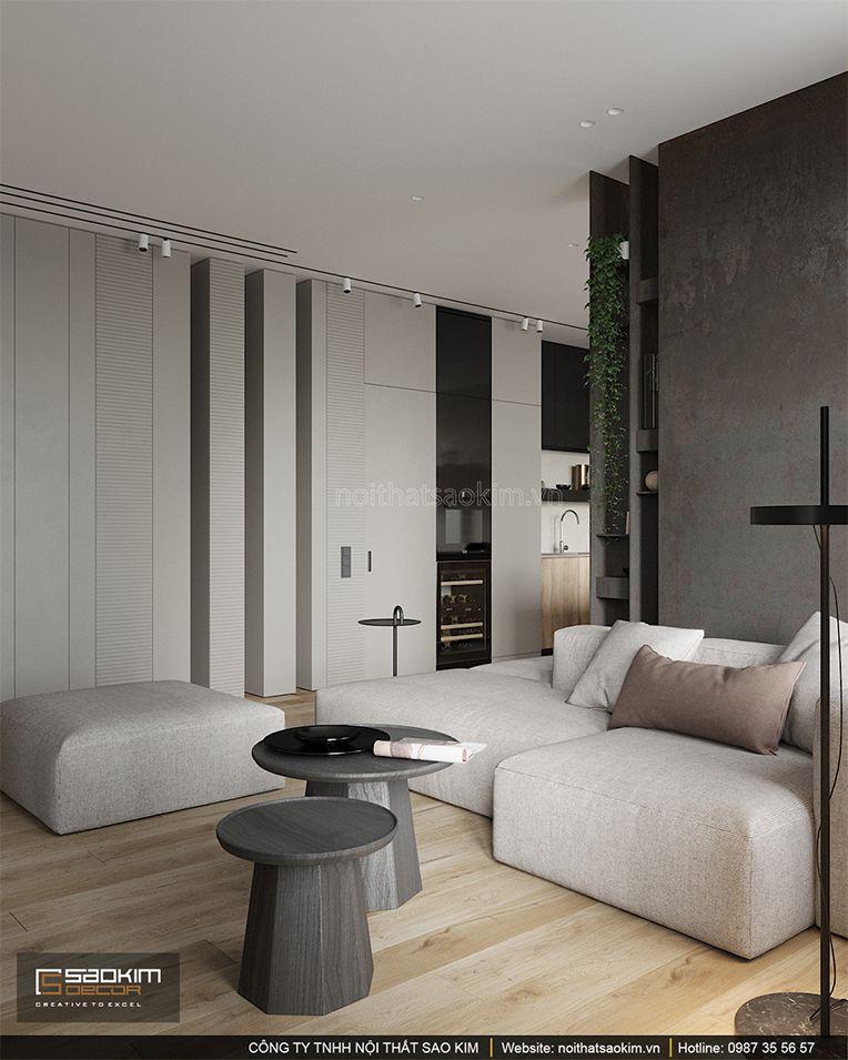 Thiết kế phòng khách chung cư theo phong cách Đài Loan