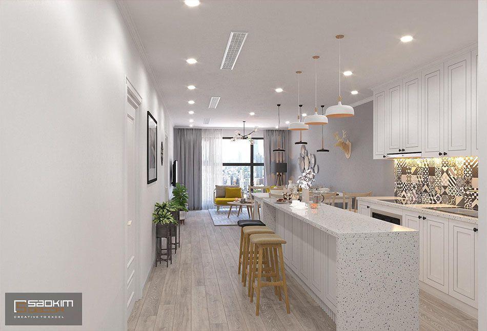 Thiết kế phòng bếp chung cư đẹp Sunshine Garden