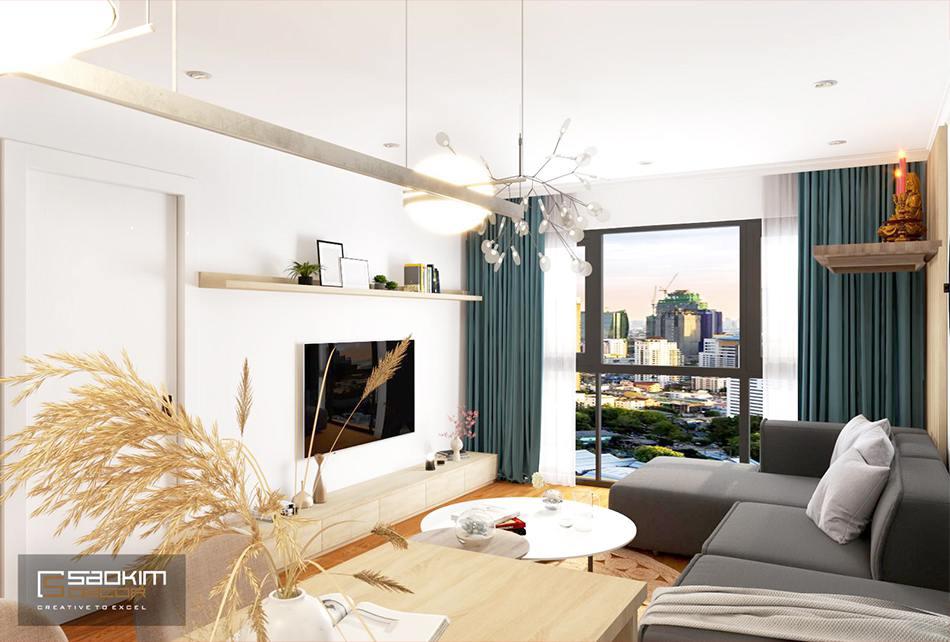 Thiết kế phòng khách chung cư phong cách Scandinavian dự ánSunshine Garden