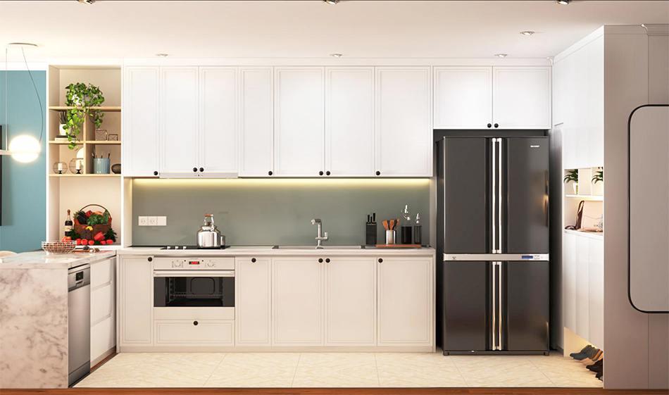 Thiết kế phòng bếp chung cư phong cách Scandinavian dự ánSunshine Garden