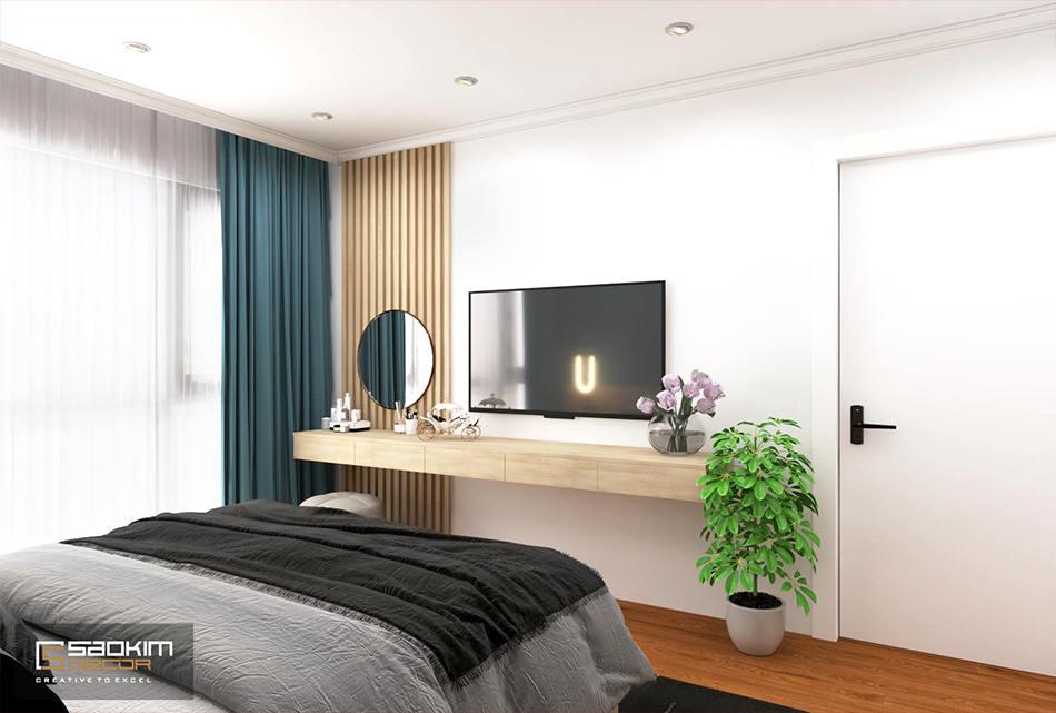 Thiết kế phòng ngủ master chung cư phong cách Scandinavian dự ánSunshine Garden