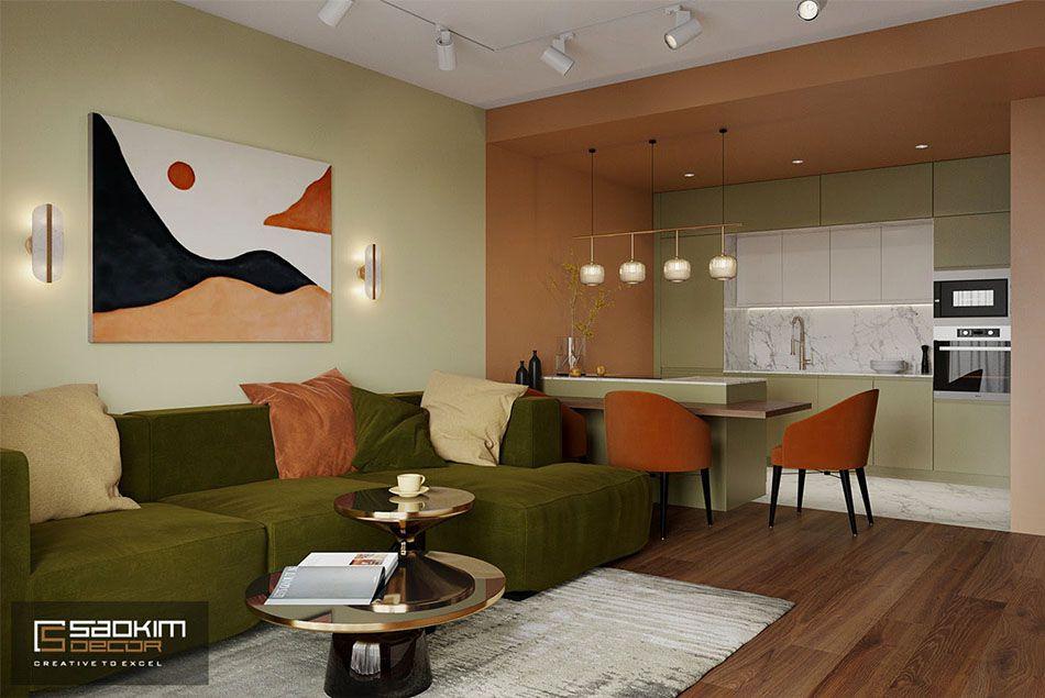 Thiết kế căn hộ chung cư Sunshine Garden theo phong cách Color Block