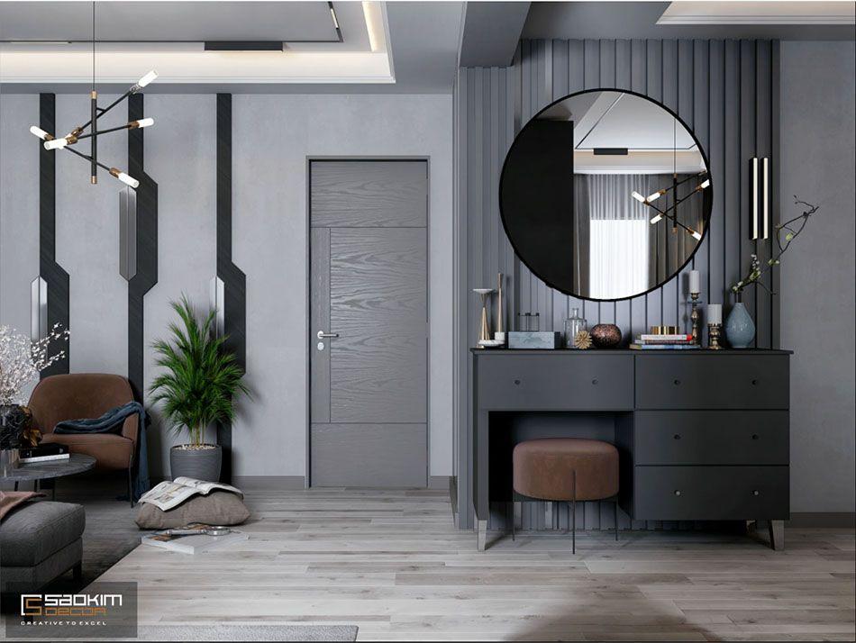 Mẫu căn hộ studio với thiết kế không gian mở