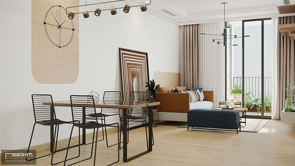 Thiết kế không gian mở chung cư cũ Time City 78m2