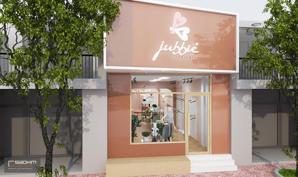 Thiết kế shop thời trang nữ với mặt tiền thu hút