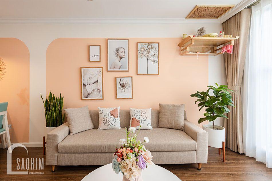 Mẫu thiết kế và thi công phòng khách chung cư Sunshine Garden