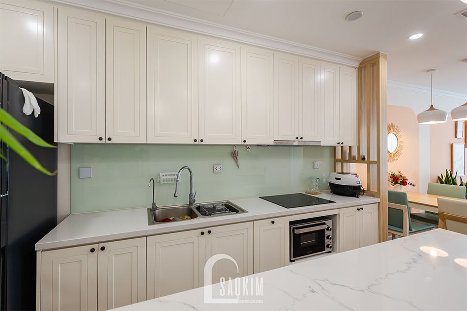 Thiết kế nội thất phòng bếp hiện đại mang đến vẻ đẹp sang trọng và tiện nghi khi sử dụng