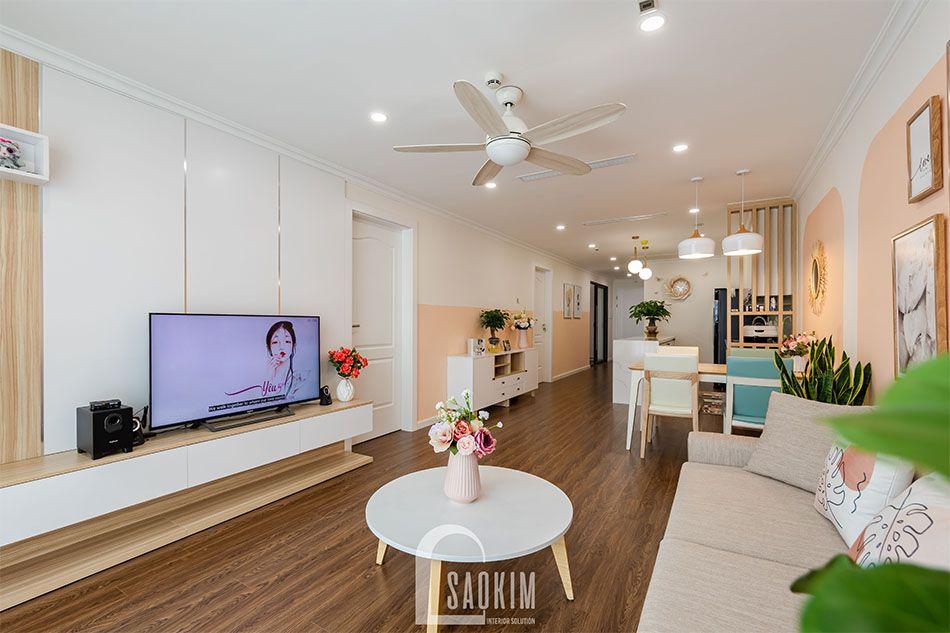 Mẫu hình ảnh hoàn thiện thiết kế và thi công chung cư Sunshine Garden