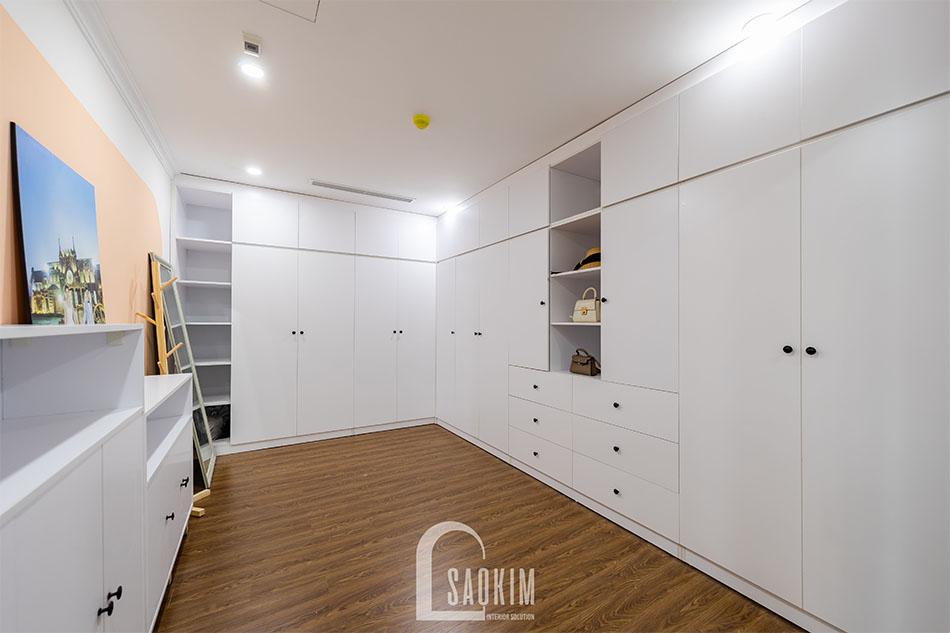 Mẫu hoàn thiện thiết kế và thi công nội thất phòng thay đồ CÀI
