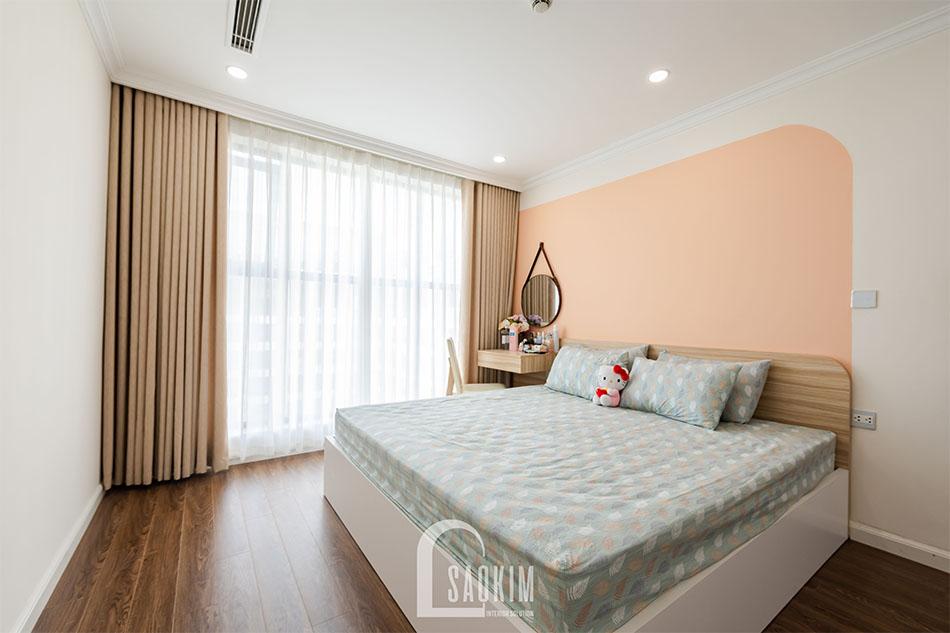 Mẫu thiết kế thi công nội thất phòng ngủ Master chung cư Sunshine Garden