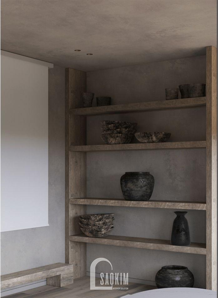 Chất liệu trong phong cách Wabi Sabi có đặc tính mộc mạc một cách tự nhiên