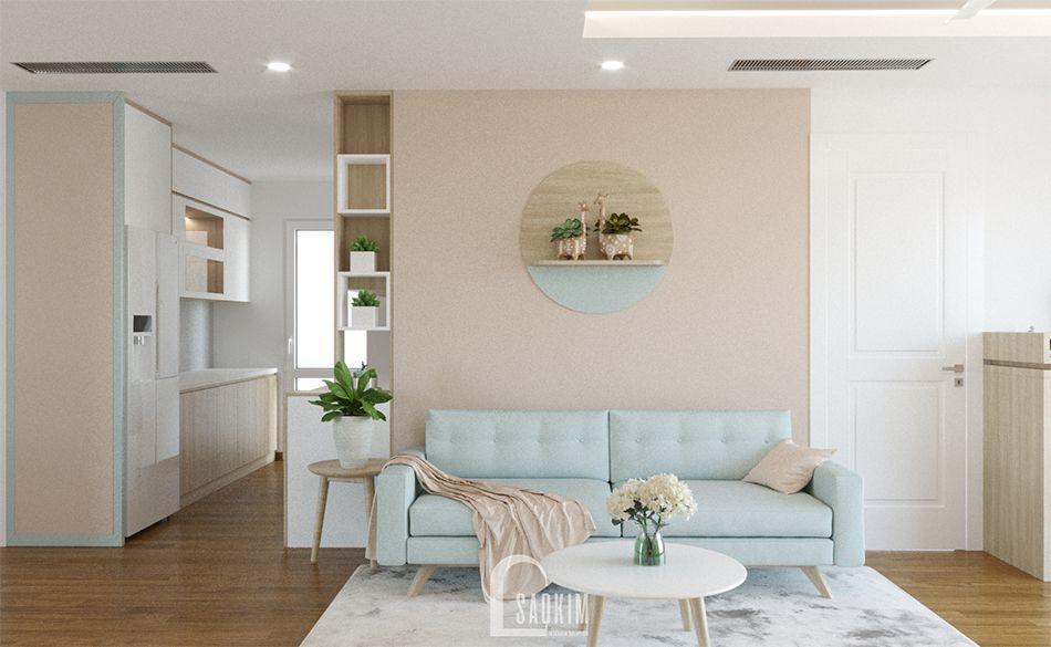 Mẫu thiết kế nhà chung cư 65m2 Imperia Garden trang nhã, thanh lịch