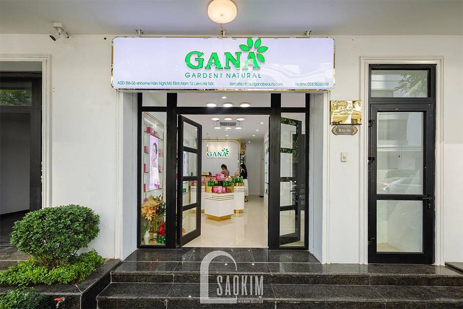 Hoàn thiện mặt tiền showroom mỹ phẩm cao cấp Gana Beauty