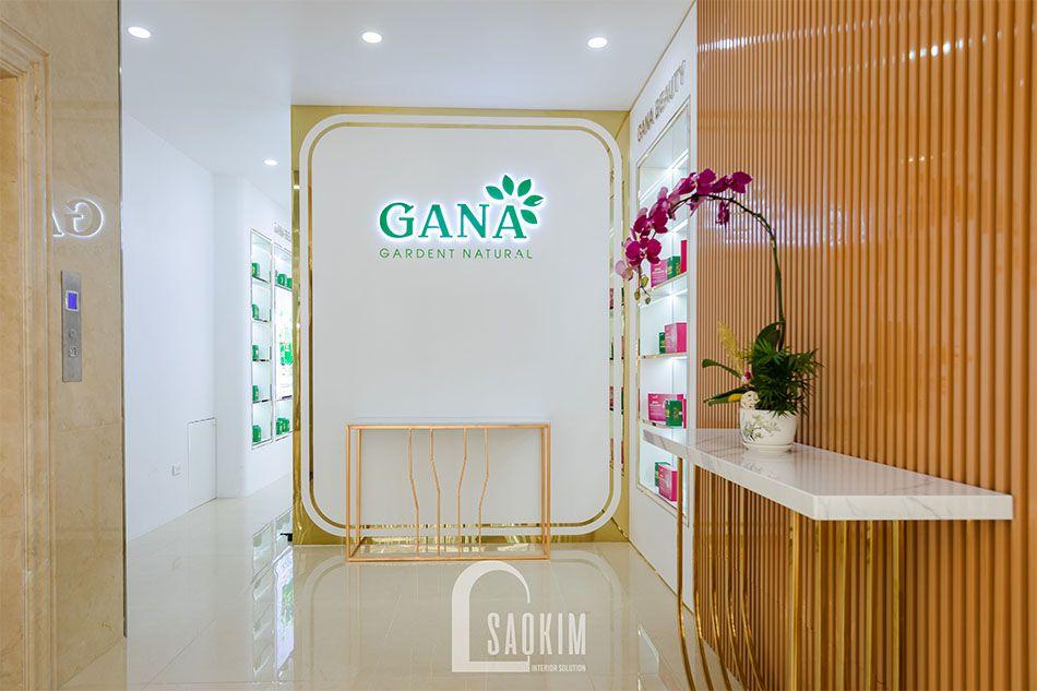 Không gian tiếp khách của showroom mỹ phẩm cao cấp Gana Beauty