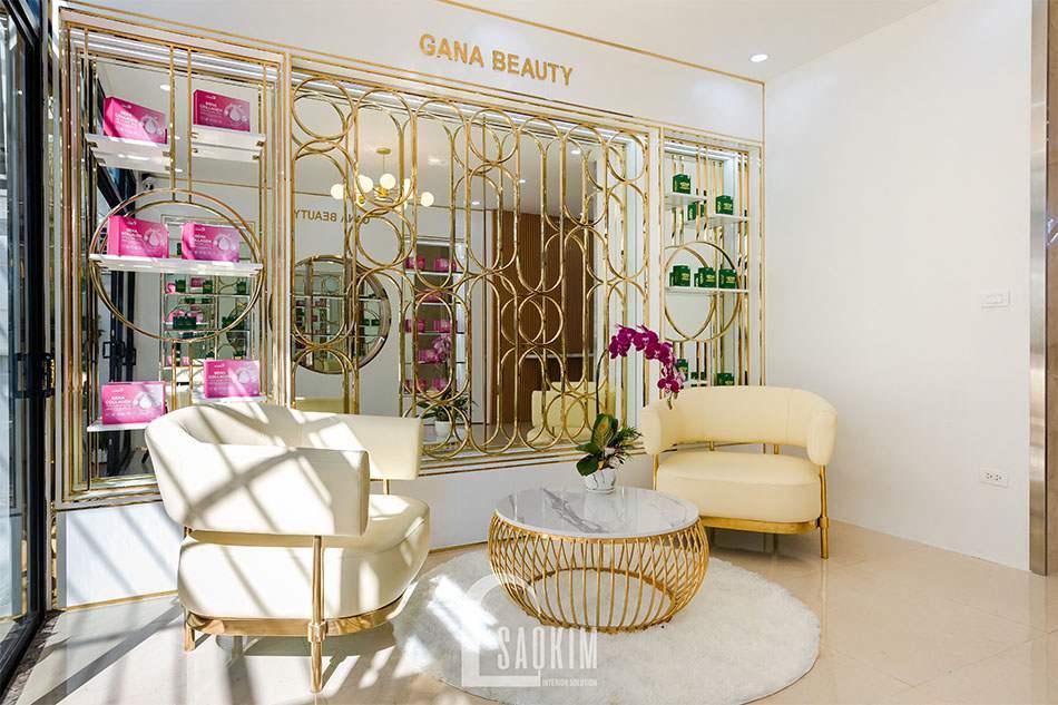 Hoàn thiện mẫu thiết kế showroom mỹ phẩm cao cấp Gana Beauty