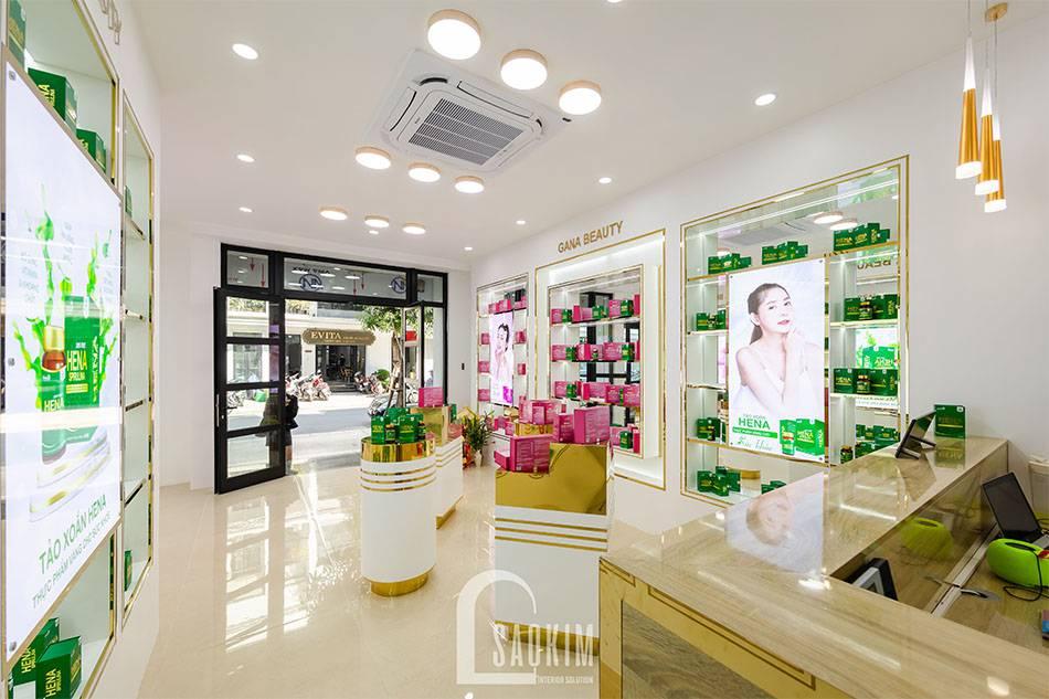 Hình ảnh hoàn thiện showroom mỹ phẫm Gana Beauty
