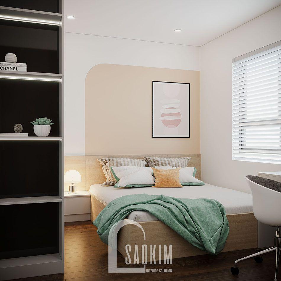 Không gian phòng ngủ 3 mang đậm phong cách thiết kế Color Block