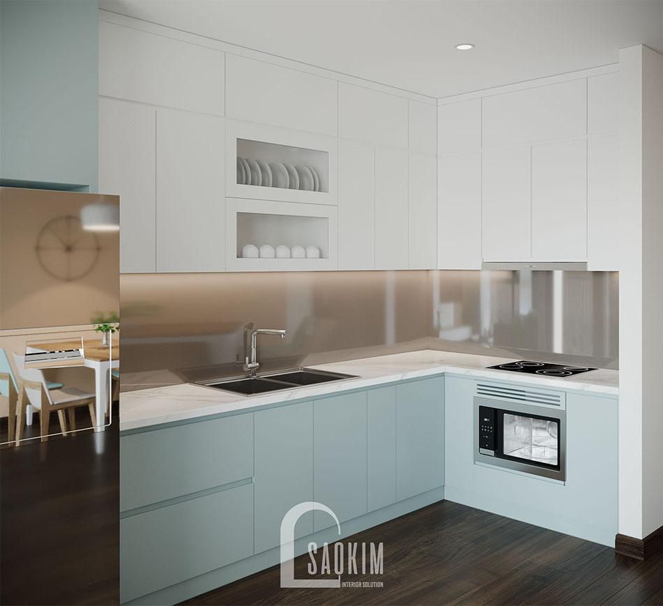 Căn bếp hiện đại, sạch sẽ với nội thất cao cấp, tiện nghi