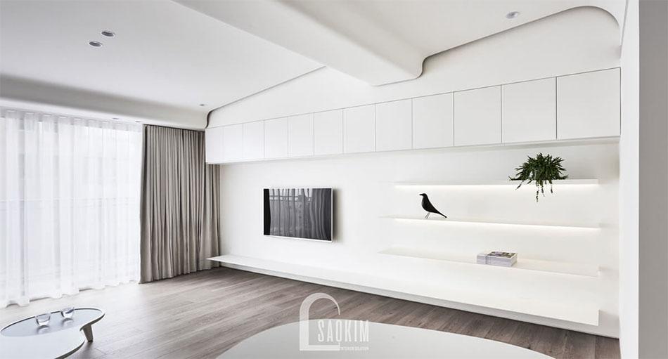 Mẫu thiết kế chung cư phong cách tối giản Vinhomes Green Bay 45m2