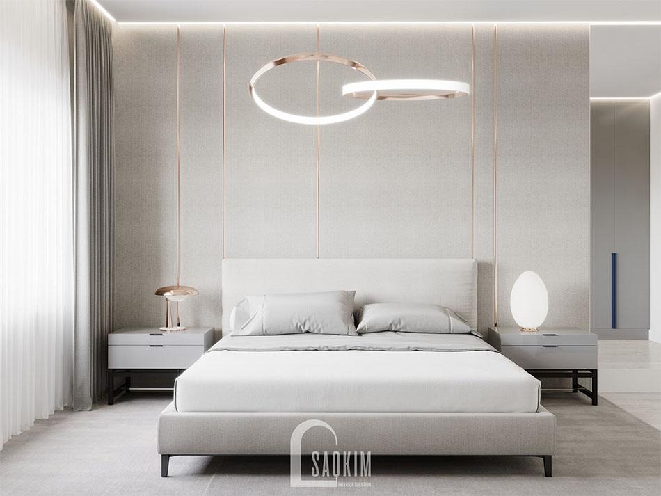 Không gian phòng ngủ nhã nhặn và thanh lịch