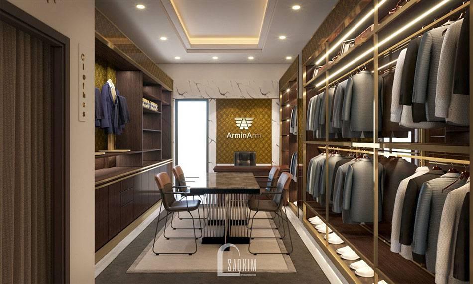 Mẫu thiết kế shop thời trang nam Armi Arm cao cấp