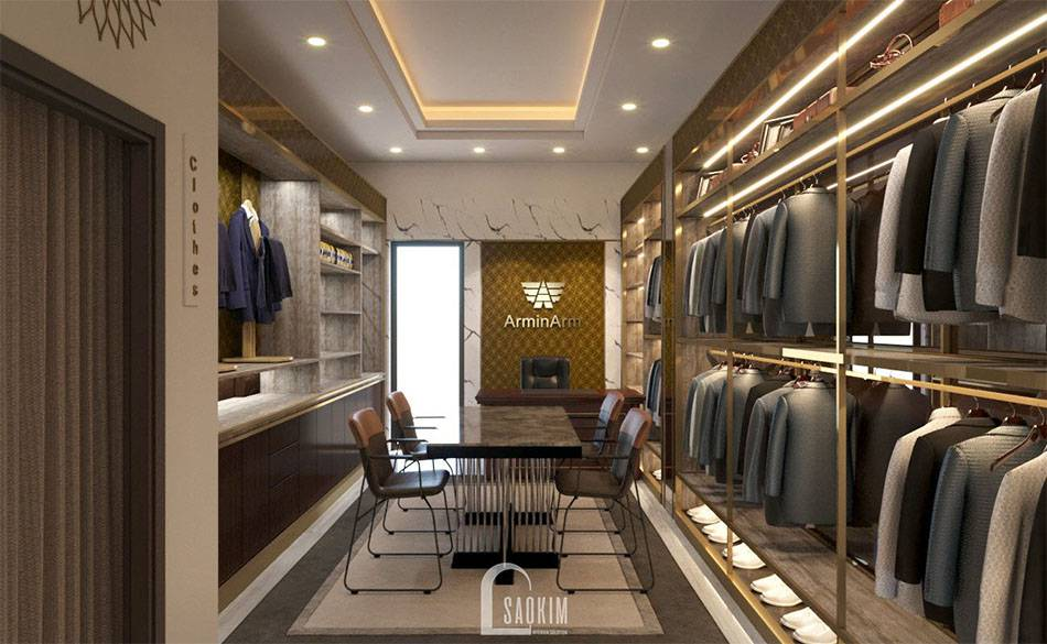 Không gian may đo, thiết kế và tư vấn khách hàng được chủ shop rất chú trọng