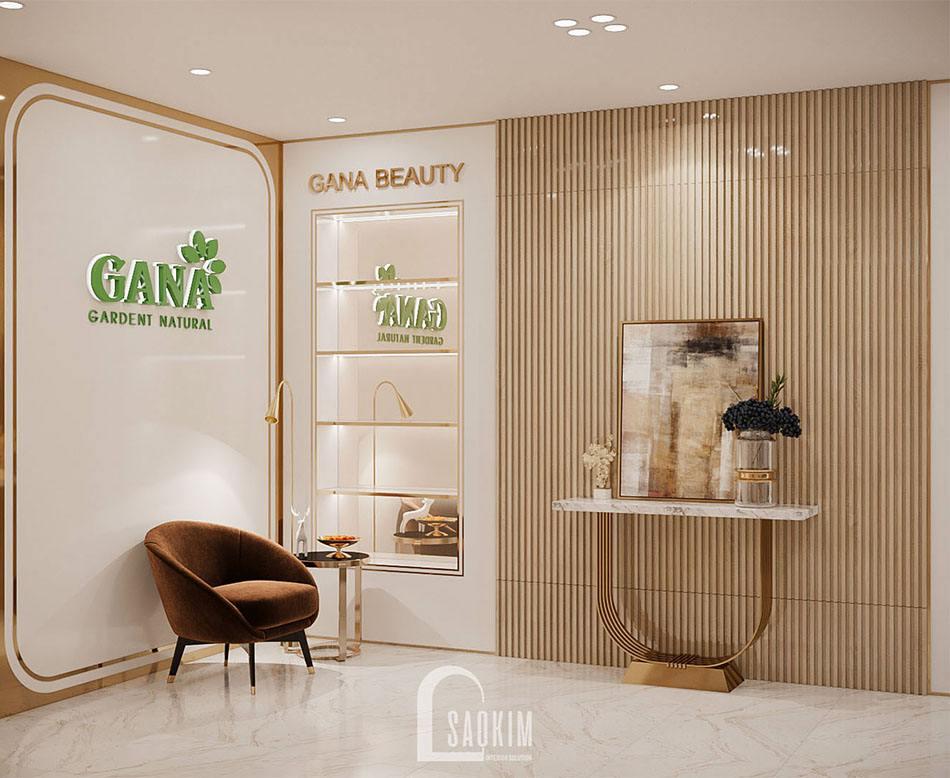 Mẫu Thiết Kế Showroom Mỹ Phẩm Cao Cấp Gana Beauty