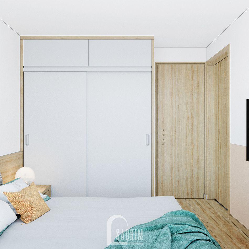 Mẫu thiết kế phòng ngủ 2 đơn giản, tiện nghi