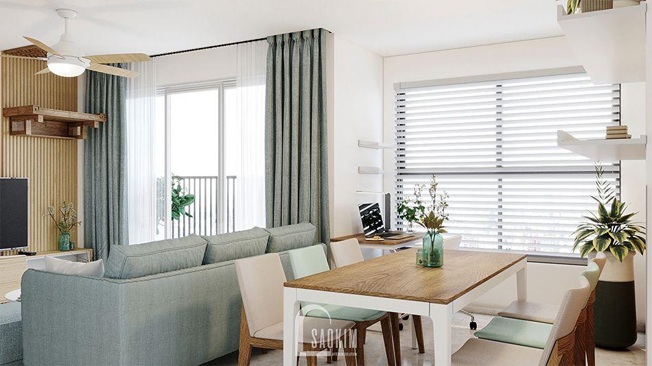 Thiết kế phòng ăn căn hộ 2 phòng ngủ chung cư Vinhomes Smart City