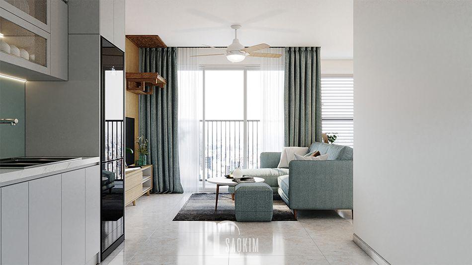 Thiết kế phòng bếp căn hộ 2 phòng ngủ chung cư Vinhomes Smart City