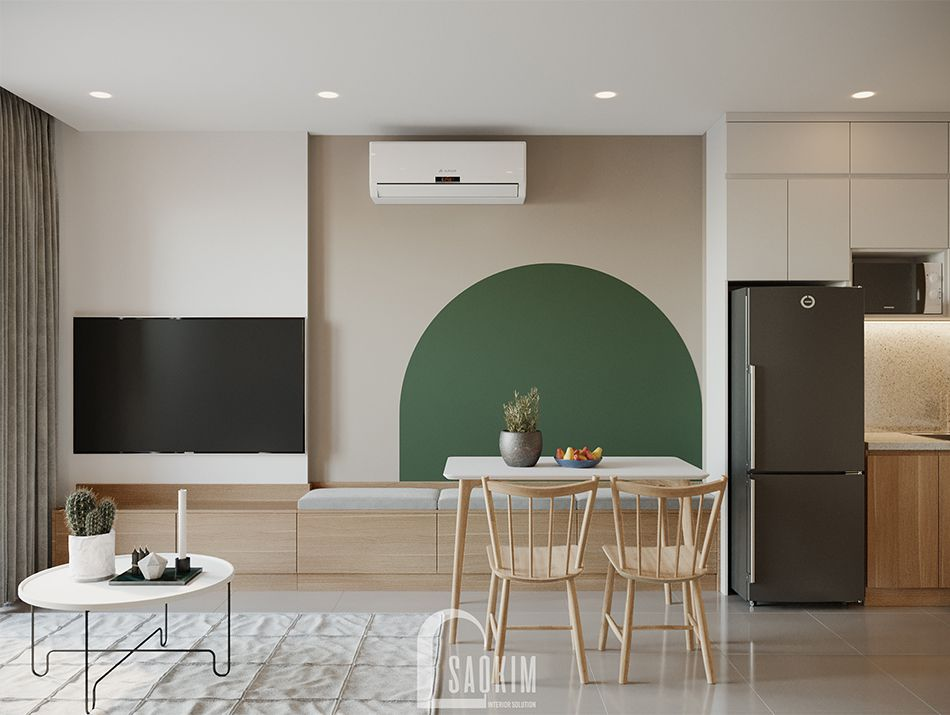 Mẫu căn hộ Vinhomes Ocean Park mang đậm thiết kế phong cách Color Block