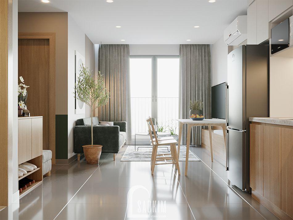 Không gian mở căn hộ Vinhomes Ocean Park tươi mới, tràn đầy sức sống
