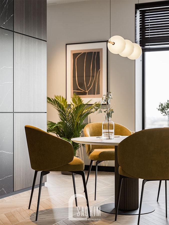 Mẫu thiết kế chung cư 2 phòng ngủ 113m2 Yên Hòa Sunshine