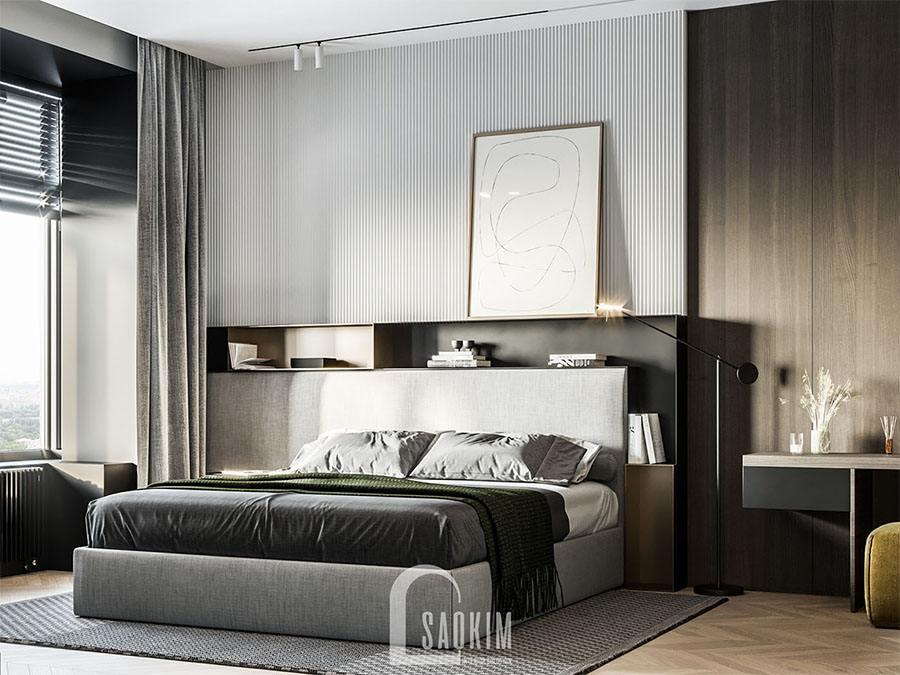 Mẫu thiết kế phòng ngủ 1 chung cư 113m2 Yên Hoà Sunshine