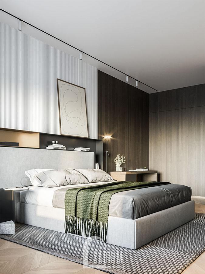 Hình ảnh mẫu thiết kế phòng ngủ 113m2 Yên Hoà Sunshine