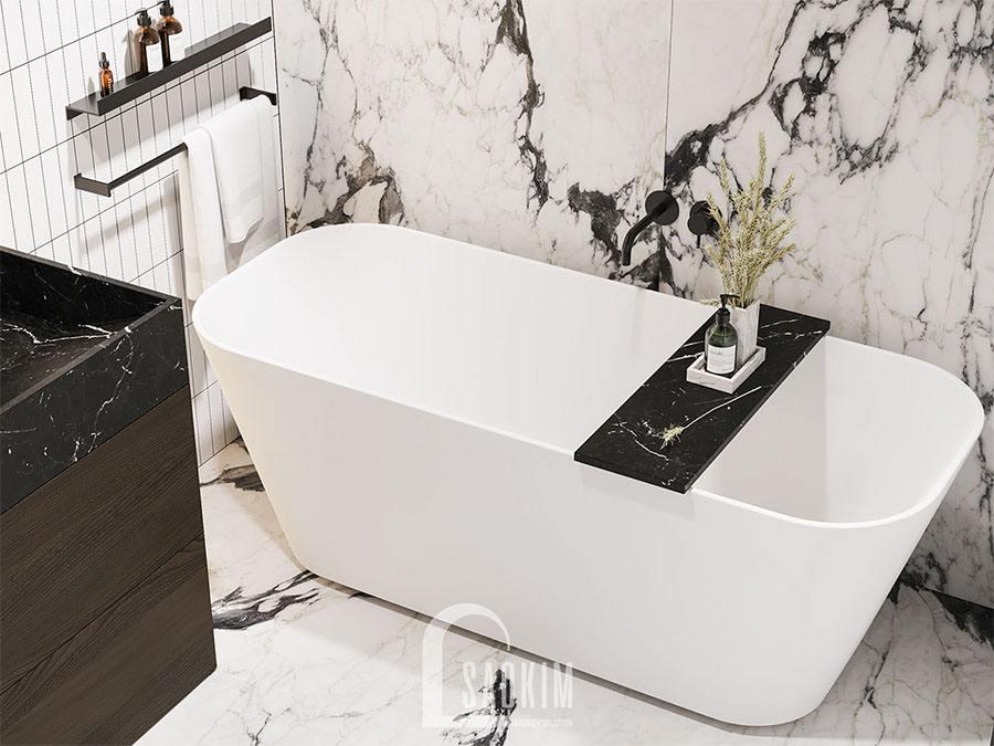 Thiết kế nội thất phòng tắm đầy đủ tiện nghi