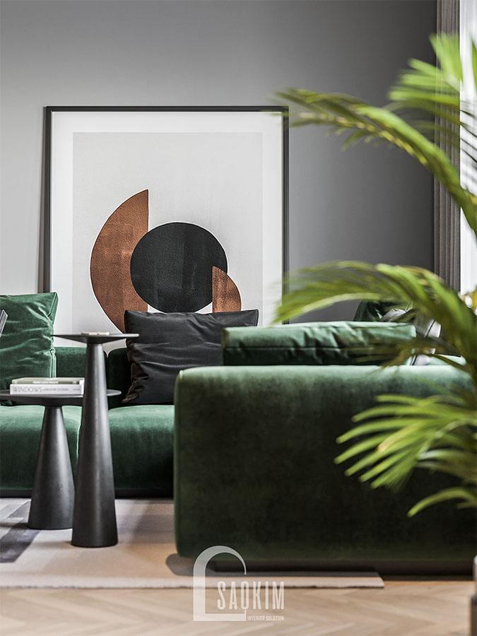 Lựa chọn nội thất phòng khách độc đáo, mang đậm chất nghệ thuật
