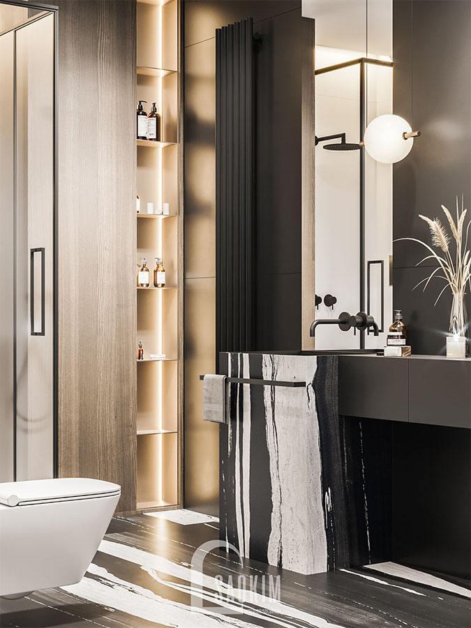 Lựa chọn nội thất phòng tắm hiện đại, sang trọng