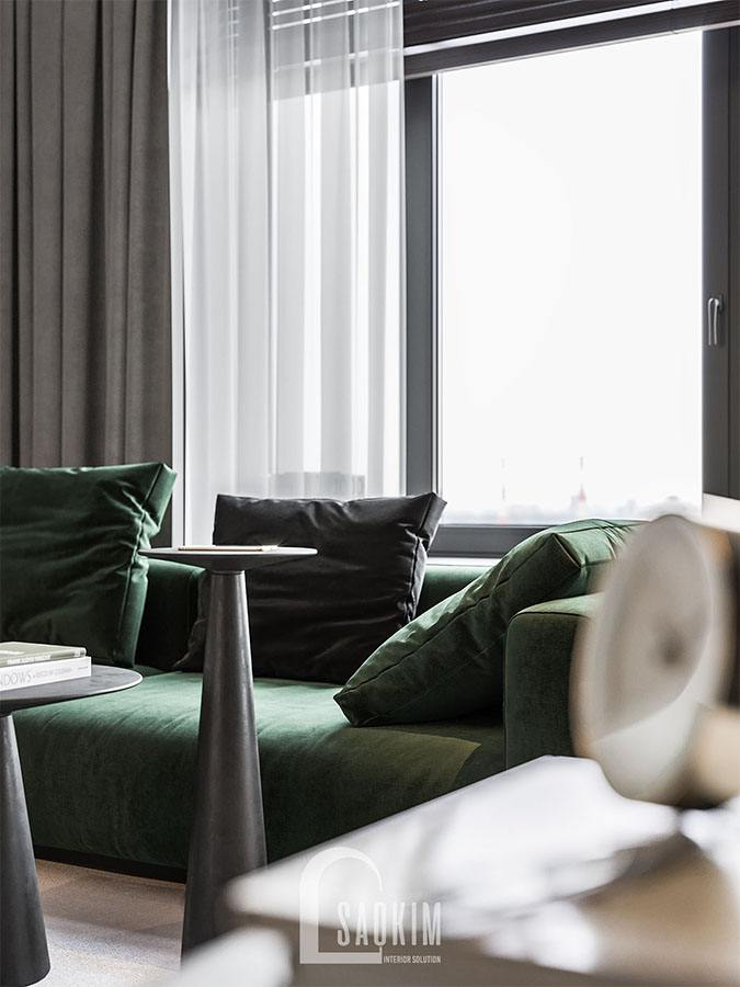 Nội thất phòng khách hiện đại và cao cấp