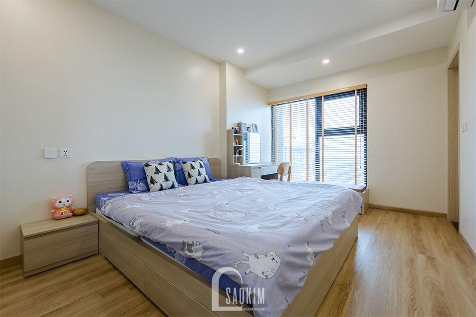 Hoàn thiện phòng ngủ Master nhà chung cư đẹp 80m2 PCC1 Thanh Xuân